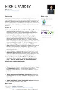 Graduate Assistant Sle Resume by 7 Graduate Assistant Cv Exle Visualcv Resume Sles Database