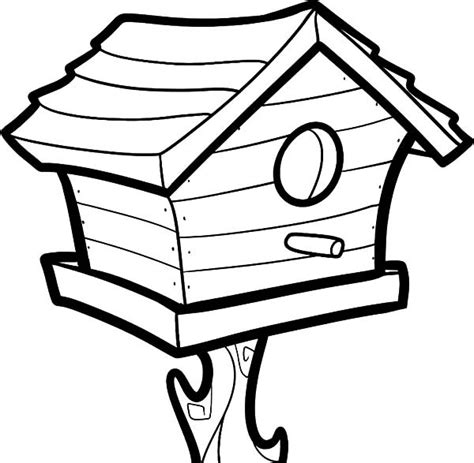 Coloring Pages Of Bird Houses | big bird house coloring pages best place to color