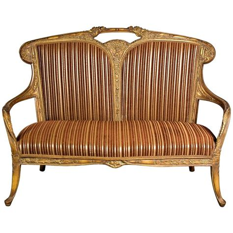art nouveau sofa very nice sofa in the french art nouveau style for sale at