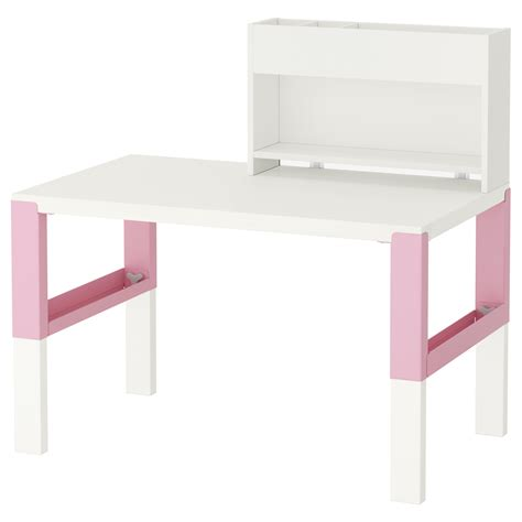 p 197 hl desk with add on unit white pink 96x58 cm ikea