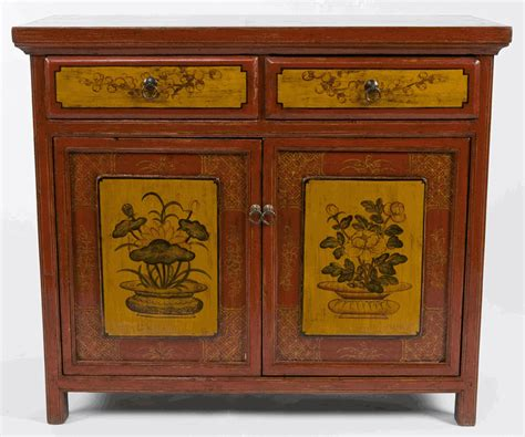asian buffet furniture antique asian furniture painted buffet cabinet from qinghai province china