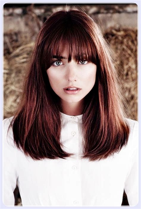 medium straight hairstyles with bangs short straight hair with bangs trend hairstyles 2018