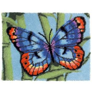 Latch Hook Rug Kit Mary Maxim Brilliant Butterfly Latch Hook Rug Kit