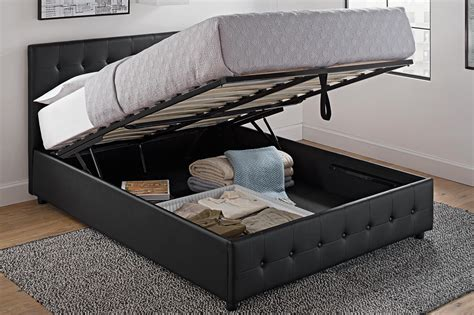 Bed With Storage by Cambridge Upholstered Bed With Storage Dhp Furniture