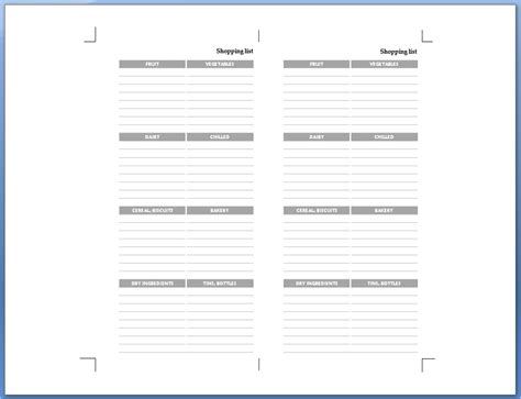 filofax printable shopping list my life all in one place return of the filofax shopping list