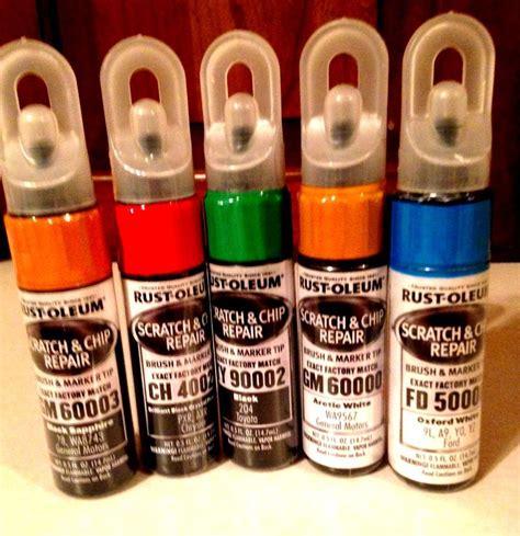rust oleum automotive scratch chip repair paint marker