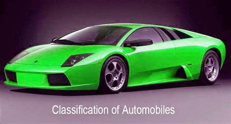 motor vehicle classification classification of automobiles