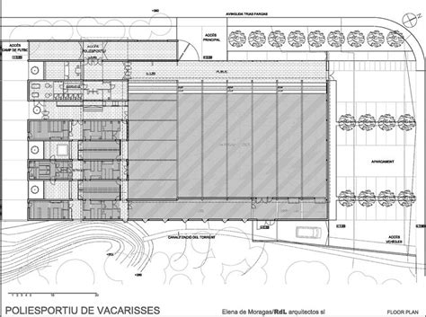 municipal hall floor plan municipal sports hall in barcelona spain by roure de le 243 n