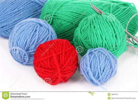 things to do with yarn besides knit knitting yarn and knitting royalty free stock image