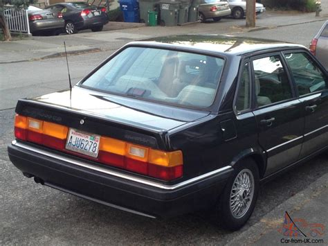 1987 audi 4000 quattro cs sedan 4 door 2 2l