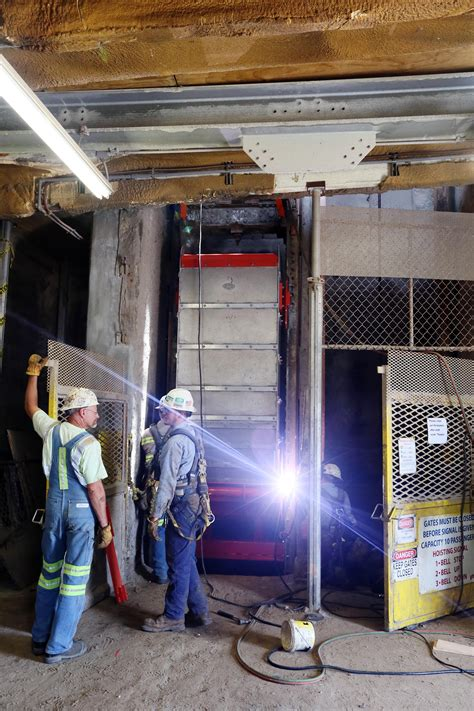 Hutch Salt Mine New Lift Buckets At Hutchinson Salt Significantly Increase