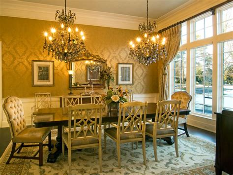 gold wallpaper dining room anne rue s design portfolio hgtv design star hgtv