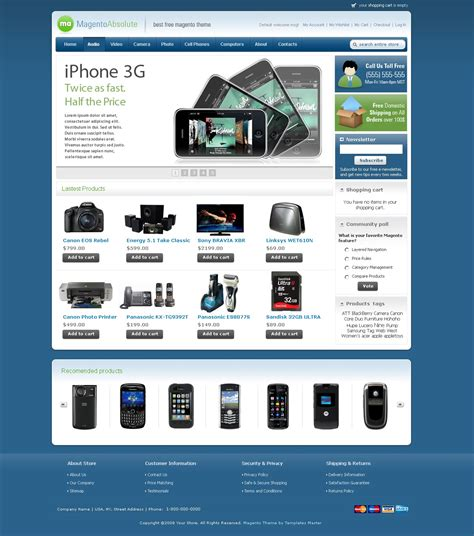 Magento Templates free magento template absolute available in 10