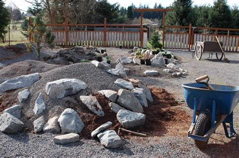 rock garden design and construction rock garden construction driveway paving ideas