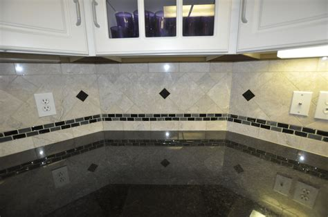tile backsplash ideas black granite countertops unique