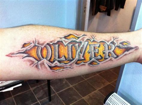 tattoo name under arm arm lettering name tattoo by body graphics