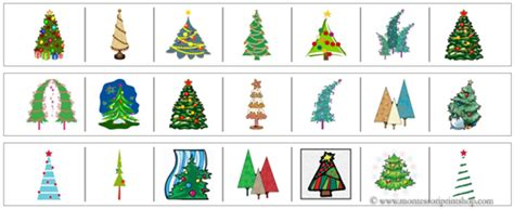 montessori tree printable christmas tree cutting strips montessori practical life