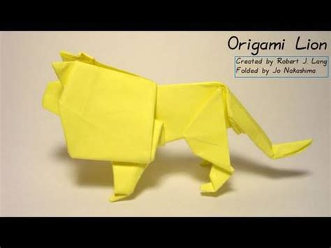 tutorial origami lion origami lion robert j lang tutorial origamipleat