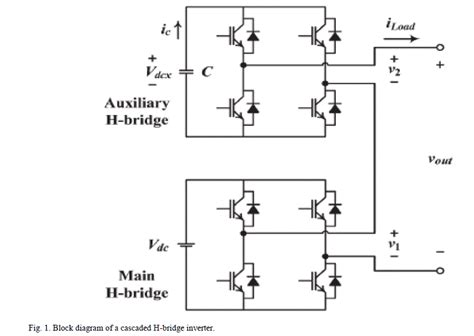 flyback capacitor multilevel inverter phase shift modulation of a single dc source cascaded h bridge multilevel inverter for capacitor