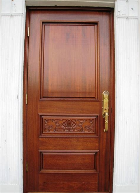 House Front Single Door Design by Veneer Wood And Mahogany Front Doors In Your Interior