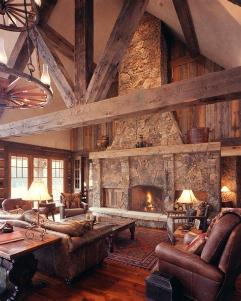 Western Home Interiors | western homestead ranch living room rustic living room