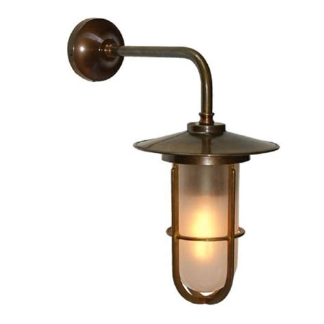 antique silver industrial style wall light with well glass shade vintage character wall light in antique brass with frosted