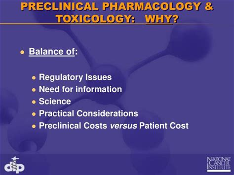 Ppt Preclinical Pharmacology Toxicology In Cancer Drug Pharmacology Powerpoint Presentation