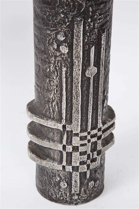 olaf joff vase from cast stainless steel for sale at 1stdibs