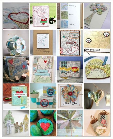 Map Craft Paper - 15 best images about crafts using maps on
