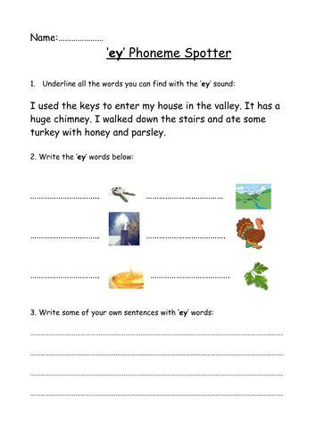 ey phoneme spotter  megaalex teaching resources