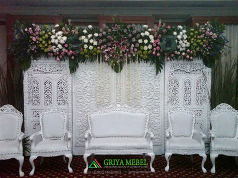 Set Flower Putih set sofa wedding ukir duco putih griya mebel