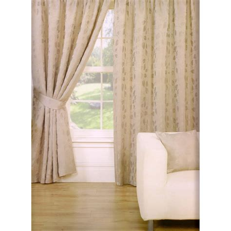 drapes lined trieste leaf pattern fully lined pencil pleat curtains
