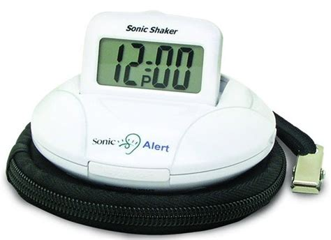 sonic shaker vibrating travel alarm clock hearing impaired clocks