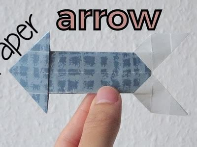How To Make A Paper Arrow - origami how to make paper crane origami how to make an
