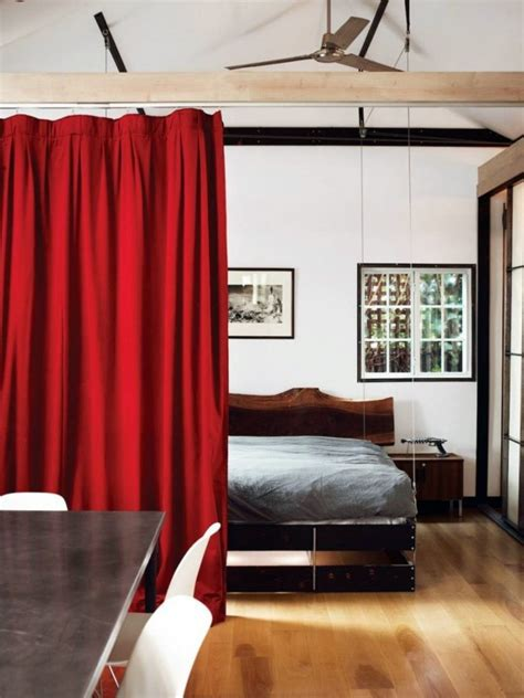 how to utilize space in a small bedroom use curtain room divider smart home design ideas