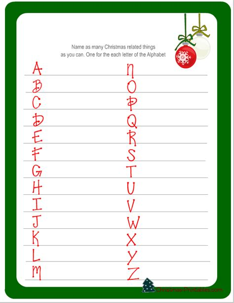 Printable Christmas Games And Activities | free printable christmas games