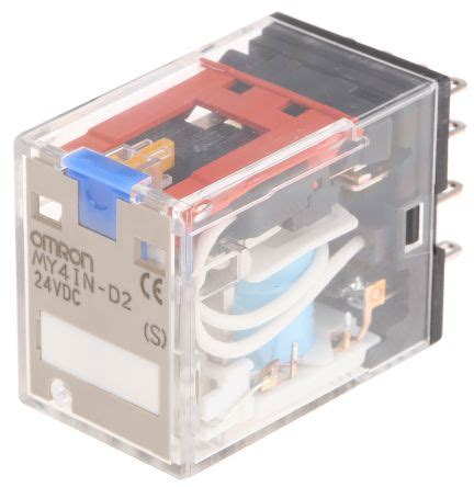 Omron General Relay Ly2 Dc 24v my4in d2 dc24 s omron 4pdt din rail non latching relay 24v dc coil 5 a omron