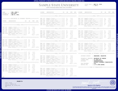 free college transcript template college transcript template templates resume