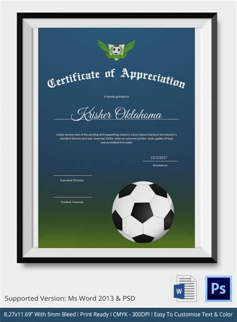 football certificates templates 10 football certificate templates free word pdf