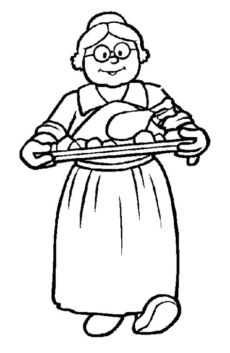 caras abuela colouring pages