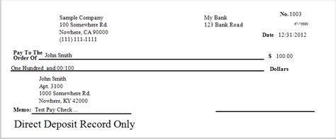 direct deposit check stub template sle paychecks www pixshark images galleries