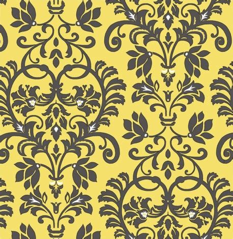 yellow leaf pattern fabric yellow dark grey white flower leaf pattern fabric by henry