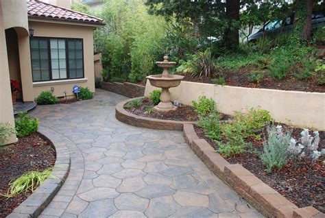 decor tips front yard with garden ideas and small retaining walls also water with