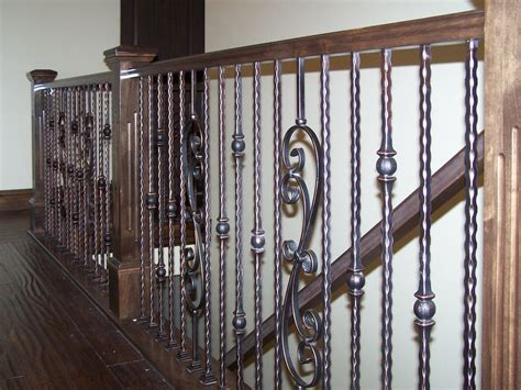 Wrought iron spindles staircase traditional with iron with