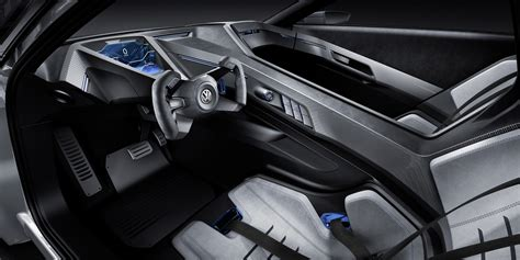 volkswagen concept interior volkswagen previews in hybrid tech for future golf