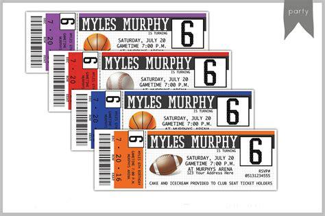 sports ticket invitation template 26 card designs in psd free premium templates