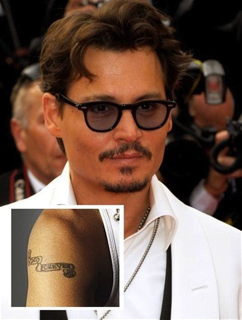 johnny depp winona ryder tattoo johnny depp misspelled tattoos stylebistro