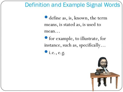 definition pattern signal words recognizing patterns of organization