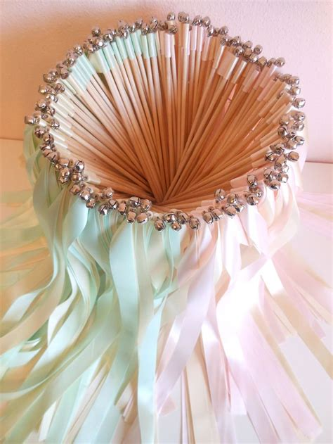 Wedding Bell Ribbon Wands by Wedding Wands 100 Ribbon Wands With Bells