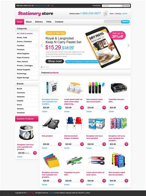 stationery store virtuemart template web design